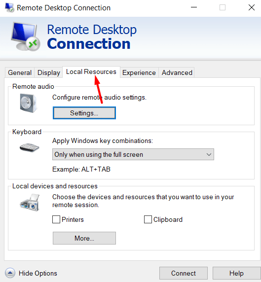 How to enable Copy and Paste for Remote Desktop in Windows