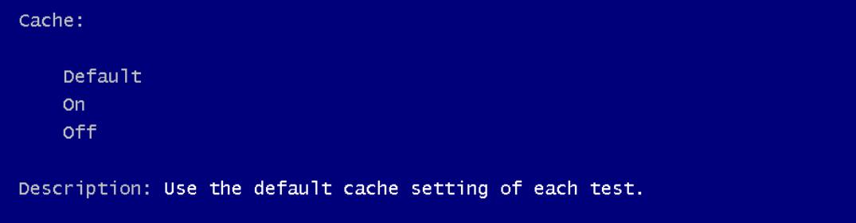 cache option