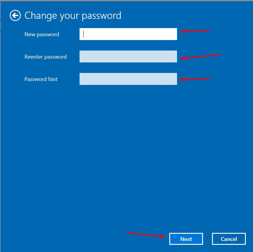 change administrator password in windows screenshot