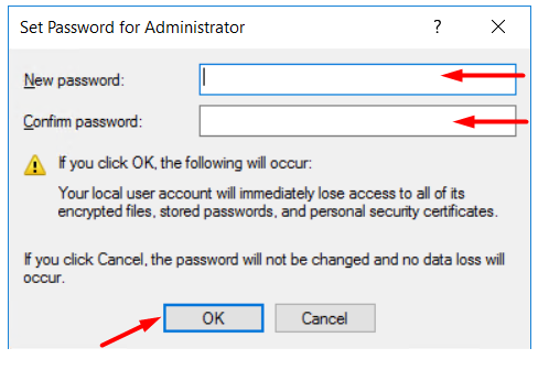 click-on-ok-to-save-password-for-new-administrator-using-computer-management
