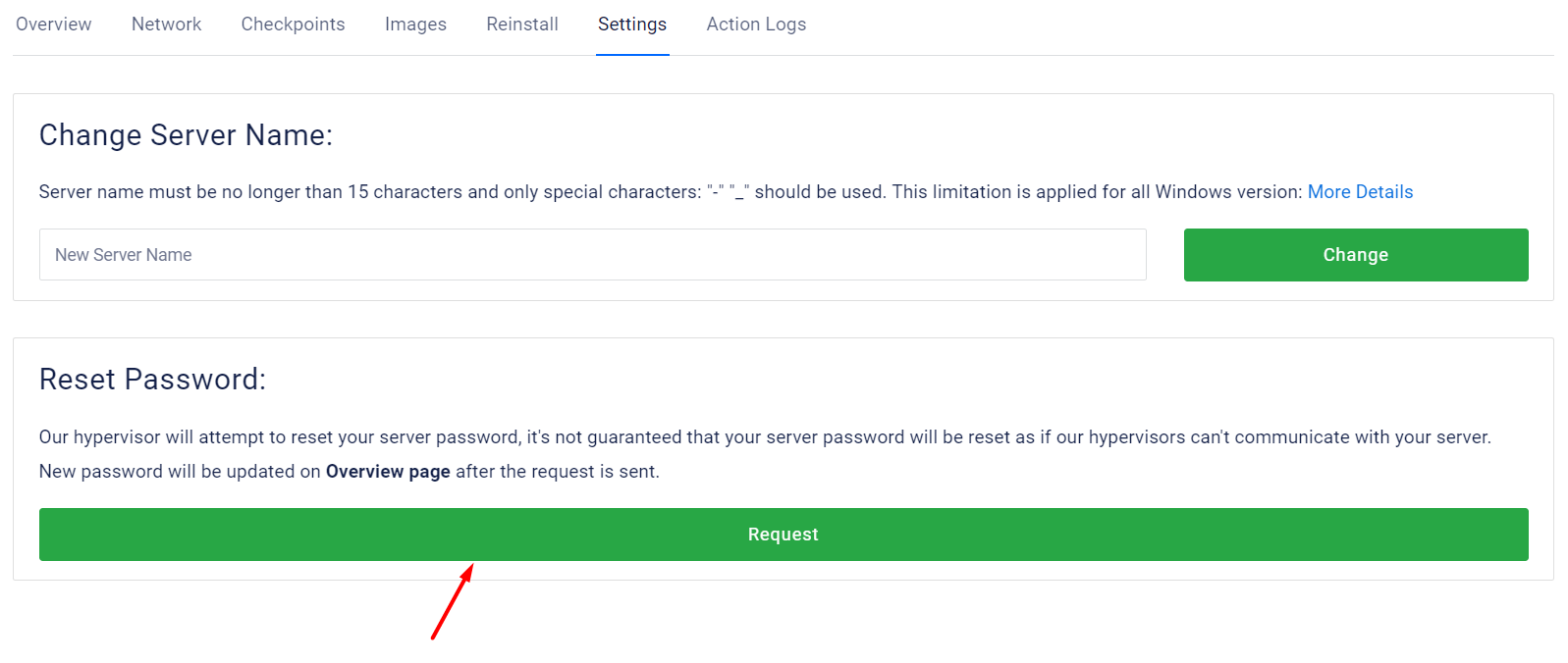 click-on-request-to-reset-password