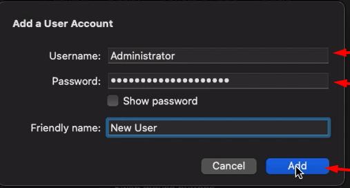 configure the administrator