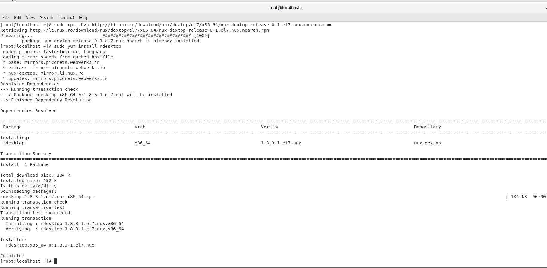 install rdesktop packages