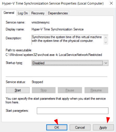 now-click-on-apply-and-save-changes-for-hyper-v-time-sync