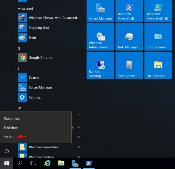 restart your windows server to apply changes