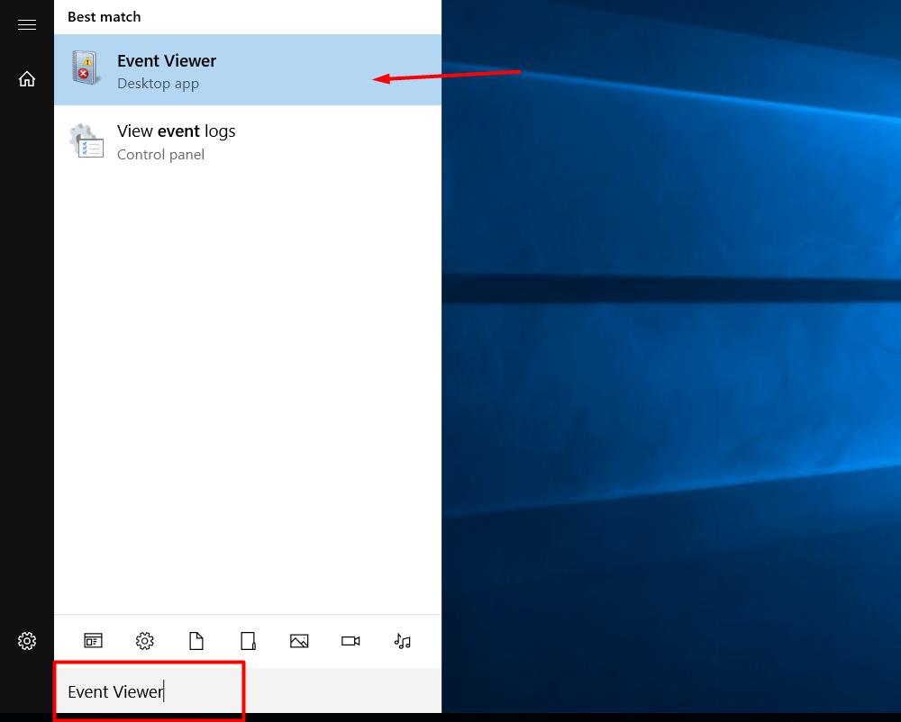 search event viewer