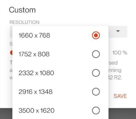 select resolution from dropdown android