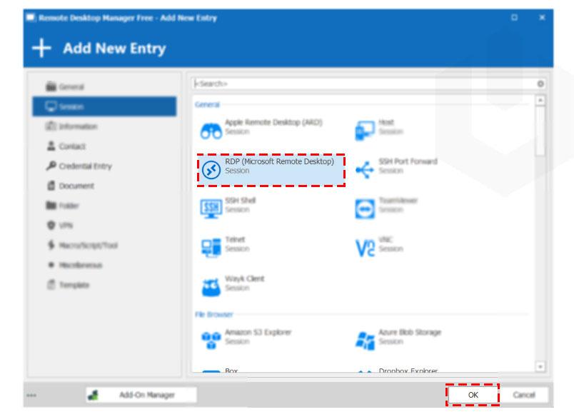 RDM-select-remote-desktop-click-on-OK