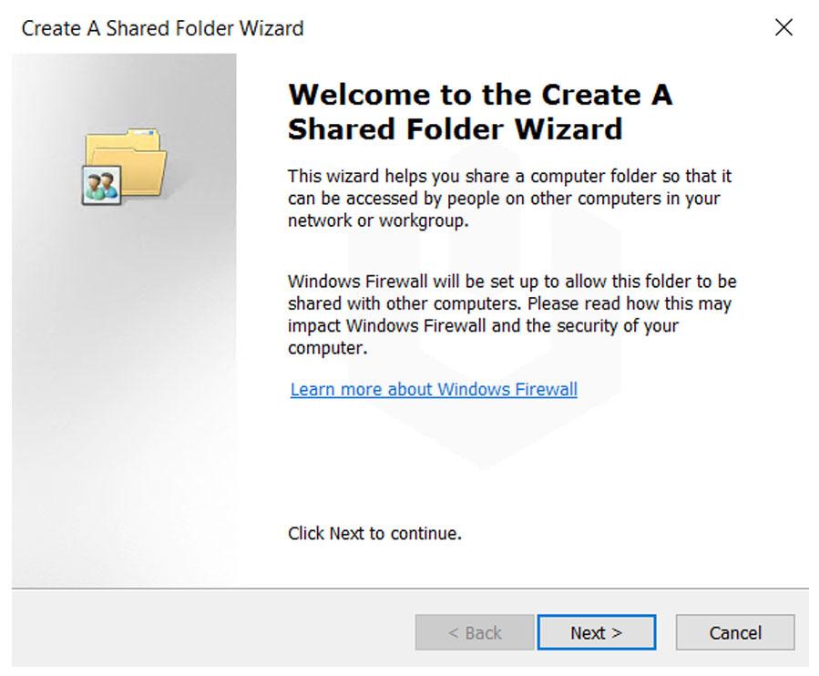 windows server shared folders