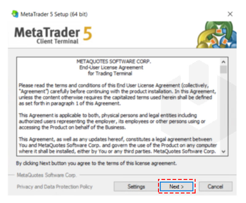 metatrader-click-on-next-welcome-screen